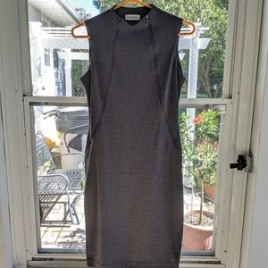 Mock-Neck Sheath Dress
